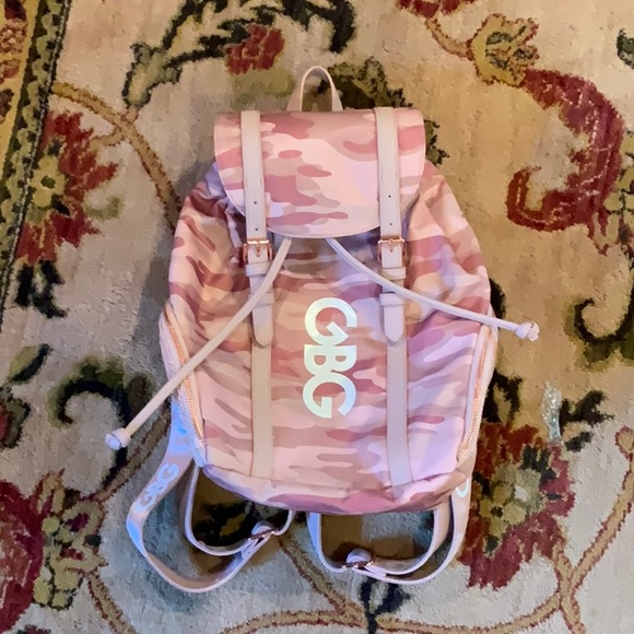 G by Guess Handbags - G by Guess: Pink Army Print Backpack